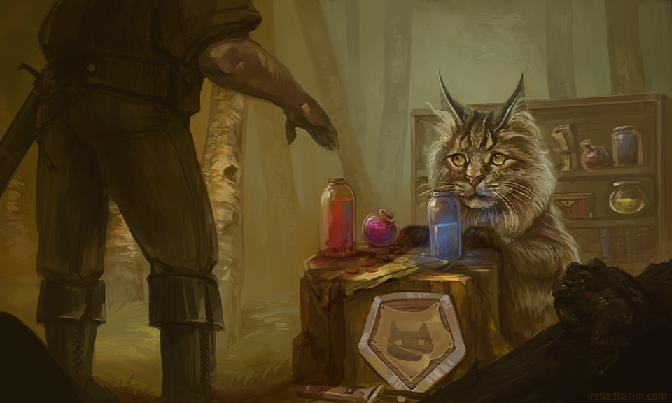 Kitty has wares, if you have coin